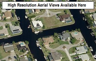 Microsoft Bird's Eye views of Everest, Cape Coral, Florida neighborhood